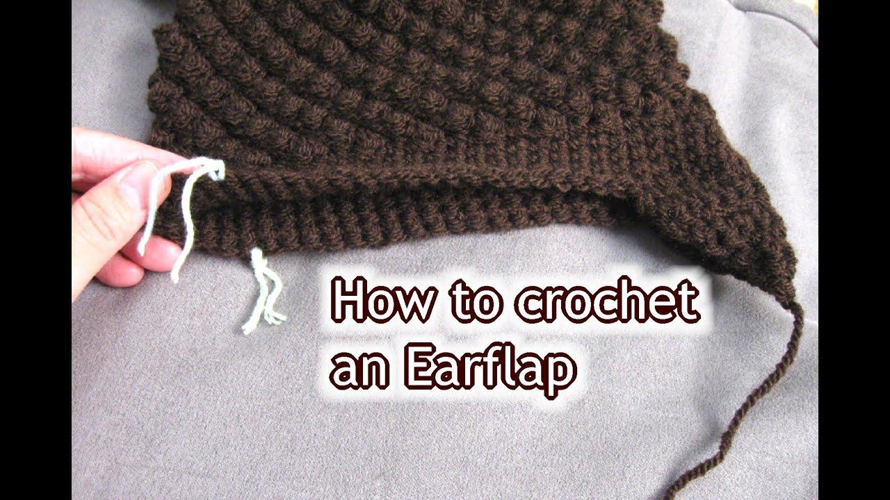 How to Crochet Ear Flaps onto a Hat - Crochet Tutorial ...