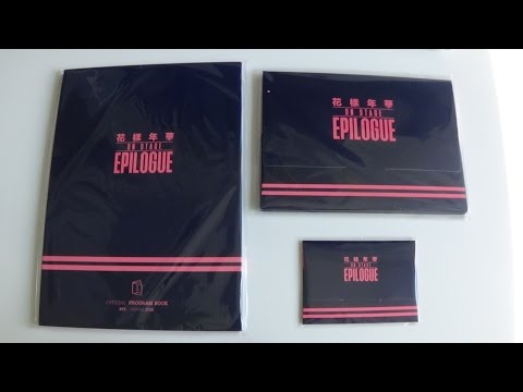 Unboxing BTS (Bangtan Boys) Live 화양연화 On Stage Epilogue Goods (Program Book, Photo & Photo Card Set)