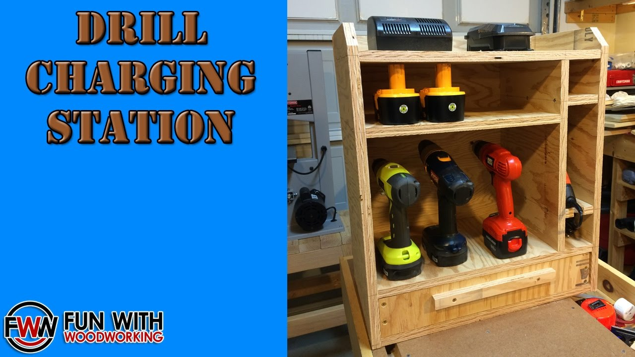 Cordless Drill Storage Charging Station in addition View All additionally Diy Work Bench moreover Watch as well How To Make A French Cleat Pocket Hole Drill Charging Station. on cordless drill charging station plans