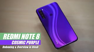 Redmi Note 8 Cosmic Purple Unboxing & Overview in Hindi | Redmi Note 8 New Purple Colour Variant