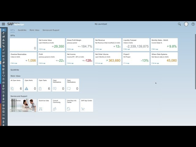 SAP ByDesign - Setting Up a KPI's on the ByD Launchpad Demo - Acclimation
