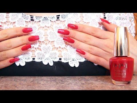 "Polishing 💅 my natural nails with new O.P.I. "" Infinite Shine "" ♡"