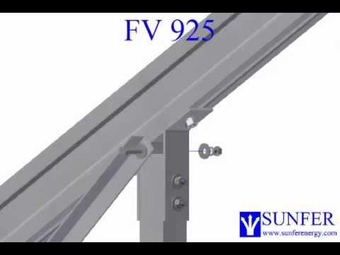 Estructura Para M 243 Dulos Fotovoltaicos Inclinada Fijaci 243 N