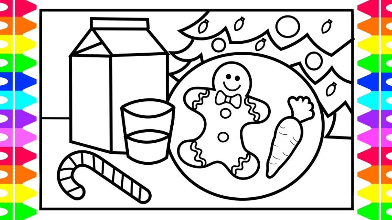 CHRISTMAS COLORING!! How to Draw and Color Cookies and ...