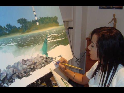 Rocio Aguilera, maestra de pintura en Veracruz en entrevista en Zona PCJ
