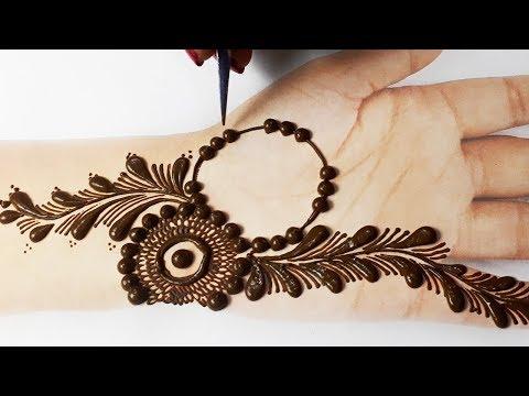 आसान शेडेड मेहँदी डिज़ाइन - सूंदर फ्लावर मेहँदी डिज़ाइन - New Gol Tikki Mehndi Design Easy