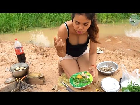 Egg cooking in coca cola | Traditional food in cambodia | Village Recipes