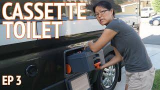 Cassette Toilet + Van Weigh In | Camper Van Life S1:E3