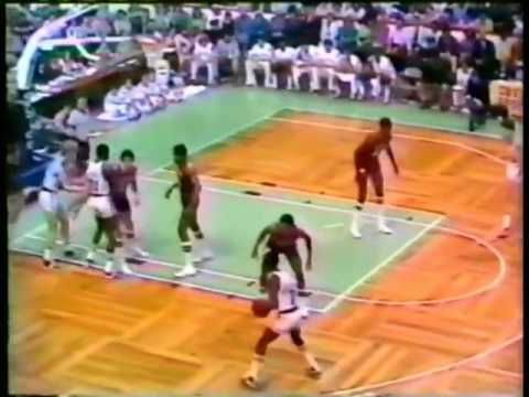 Pistol Pete Maravich   Last game of his NBA career, rookie Larry Bird