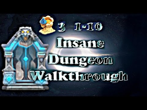 Castle Clash F2P Insane Dungeon 3(1-10) Walkthrough