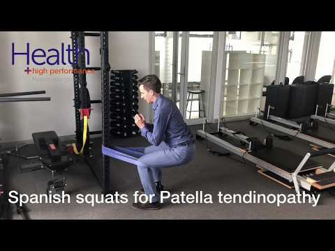 Spanish squats for Patellar tendinopathy & jumpers knee   Melbourne Sports Chiropractor