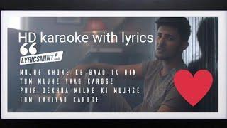 TERA ZIKR official Karaoke with lyrics - DARSHAN RAVAL