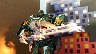 Transformers Age of Extinction : Hound vs Decepticons (Official Stop Motion)