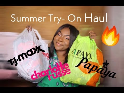Summer Try On Haul ! | Forever 21 , TJMAXX , Charlotte Russe , & Papaya Clothing  & MORE!