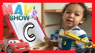 LEARNING THE LETTER C   LEARN WITH MAV   VERY SMART 3 YEARS OLD