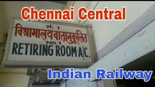 Indian Railway Retiring Room At Chennai Central Junction   Family Room   Dormitory   Double bedroom