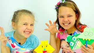 Видео для детей. Ксюша, Настя - Мастер Класс по ОРИГАМИ. Как сделать закладку?(, 2015-10-21T07:27:51.000Z)
