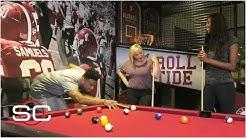 Alabama's Tua Tagovailoa schools Maria Taylor and Holly Rowe in pool   SportsCenter