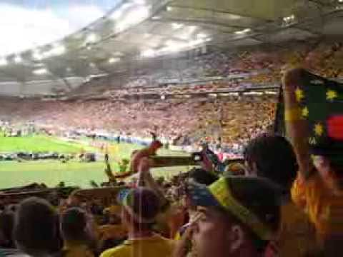 2006 FIFA World Cup - Australian National Anthem being sung in Stuttgart