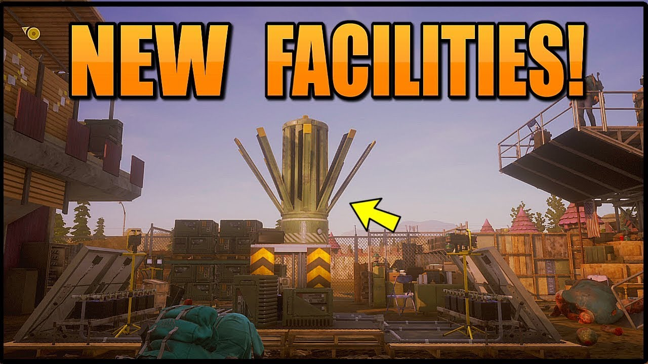 INSANE NEW FACILITIES! CLEO SUPPLY DROPS, BUNKROOM & MORE! (STATE OF DECAY  2) DAYBREAK FACILITIES