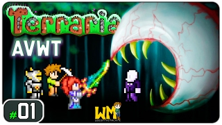 Terraria AVWT #01 - Gameplay [PT-BR] - Vamos jogar - Série Multiplayer