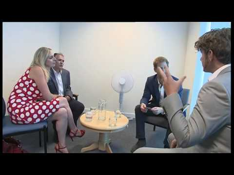 Prince Harry visits Headway Suffolk in Ipswich