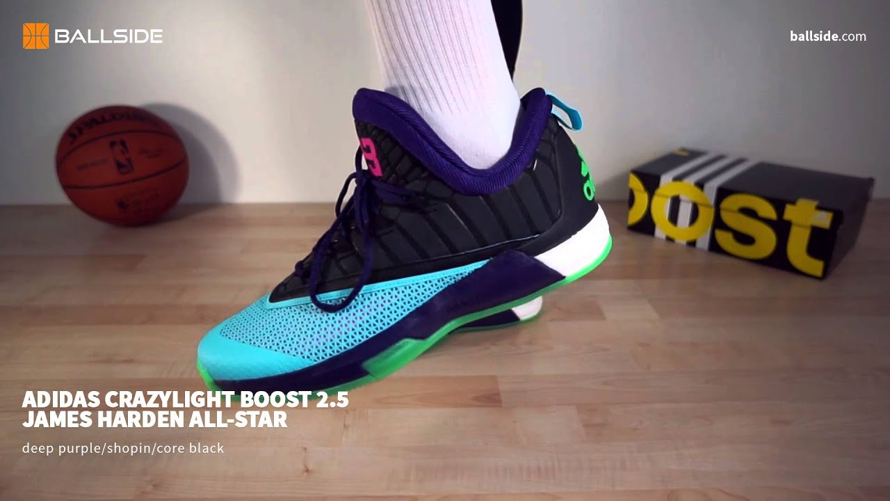 new products 61aff ac807 adidas Crazylight BOOST 2 5 James Harden AS on feet