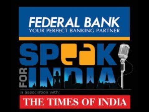 SPEAK FOR INDIA  2018 MAHARASHTRA EDITION ,INDIA'S BIGGEST INTER COLLEGIATE DEBATE CONTEST