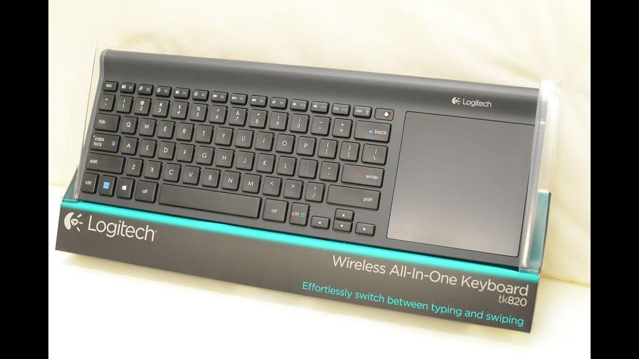 85ebf1014b2 Logitech TK820 Wireless All-In-One Keyboard - YouTube