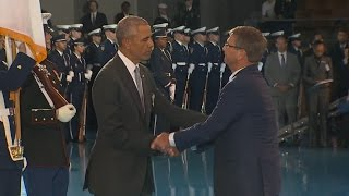 President Obama delivers farewell speech to US Armed Forces