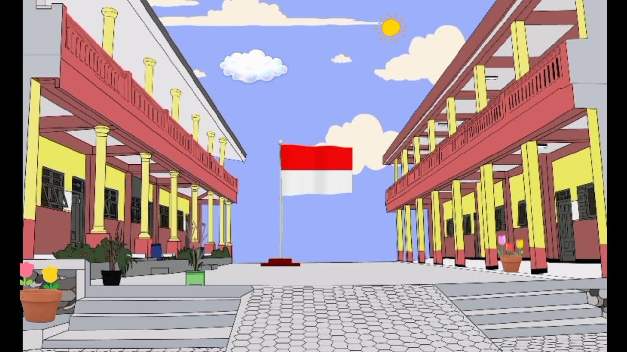 Background Animasi Lapangan Sekolah Youtube