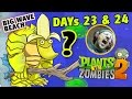 Dad plays PVZ 2: Gargantuar Banana Wins! BIG WAVE BEACH - Days 23 & 24