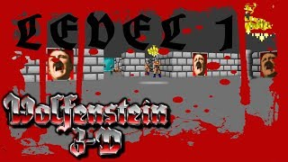 Let´s Play Wolfenstein 3D Episode 4 Level 1