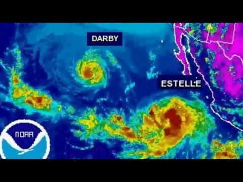 Rad Weather Update Hurricane #Estelle & Darby Forecast SouthWest On Fire Radiation Report