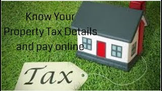 How to Know your Property tax details in telugu.