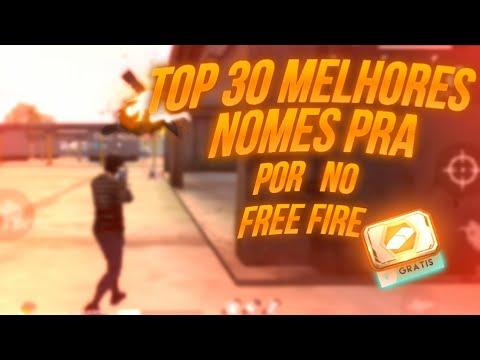 Top 30 Melhores Nomes Pra Por No Free Fire Masculinos Youtube