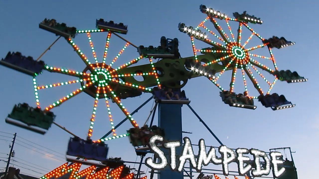 Stampede Off On Ride Great Allentown Fair 2014 Youtube