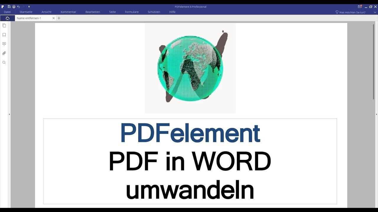 Umwandeln Von Pdf In Word