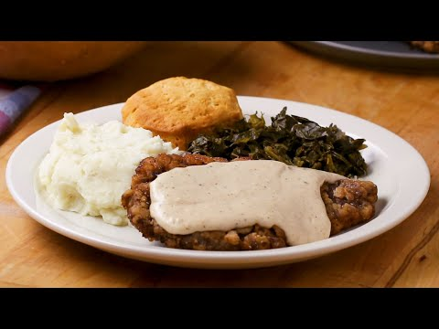 How To Make Country Fried Steak and Gravy •Tasty