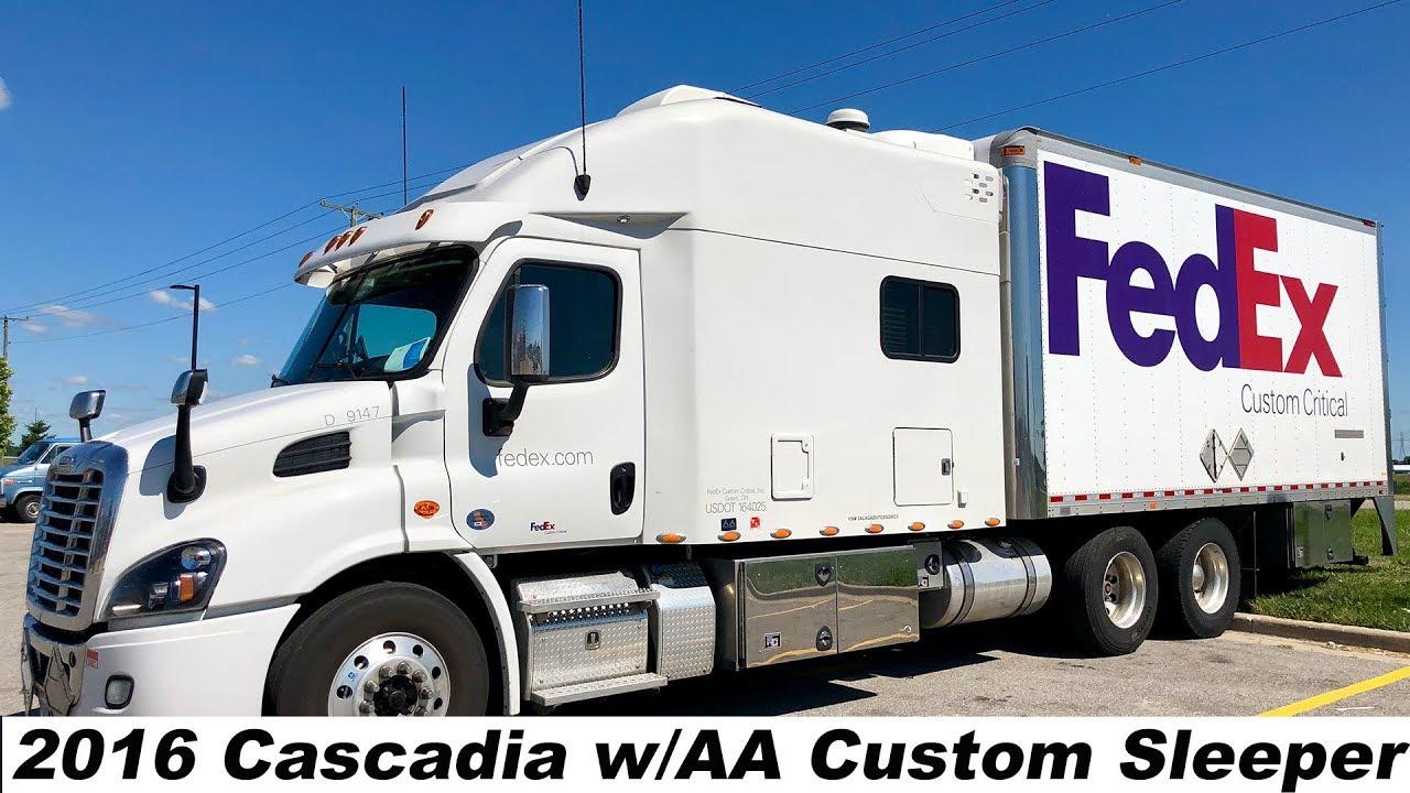 2016 Cascadia W An Aa Custom Sleeper Truck Tour Youtube