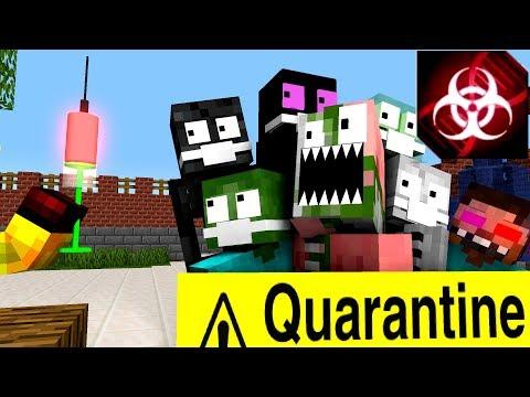 Monster School : PLAGUE INC CHALLENGE - Funny Minecraft Animation