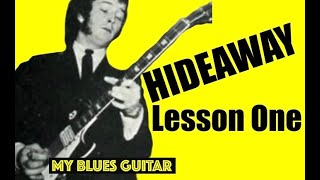 Eric Clapton Bluesbreakers John Mayall Hideaway Guitar Lesson #1