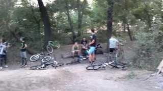 Горный велосипед байк экстрим спорт трасса трамплин Запорожье Август 2013