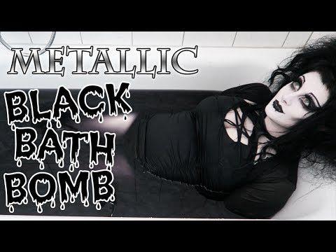 METALLIC BLACK BATH BOMB | Black Friday