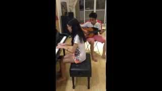 Ave Maria by Linh Pham & Tran Thong ( Piano + Guitar)