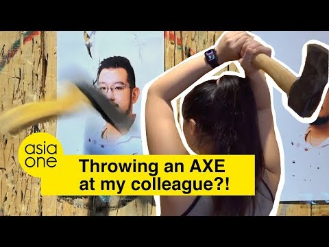 #Joeyjios: Singapore's first and only indoor axe-throwing range