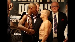 HOLDER OF THE FASTEST WORLD TITLE KO! - ZOLANI TETE v OMAR ANDRES NARVAEZ - OFFICIAL WEIGH-IN VIDEO
