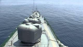 発砲 大迫力 2砲塔同時 護衛艦 しらね DDH-143 thumbnail