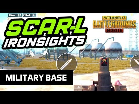 SCAR-L with IRONSIGHTS - MILITARY BASE - PUBG Mobile
