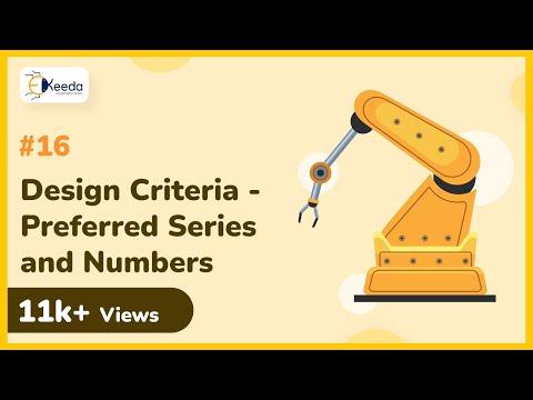 Explain Design Criteria Preferred Series - Mechanical Engineering Design - Machine Design 1
